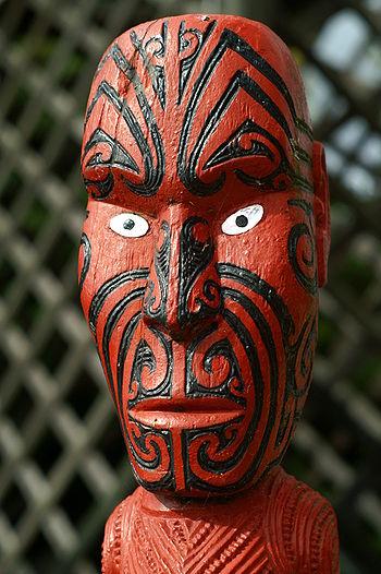 Maori Statue in Rotorua New Zealand.JPG