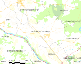 Mapa obce Chantenay-Saint-Imbert