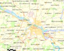 Carte DAmiens Et Des Communes Limitrophes