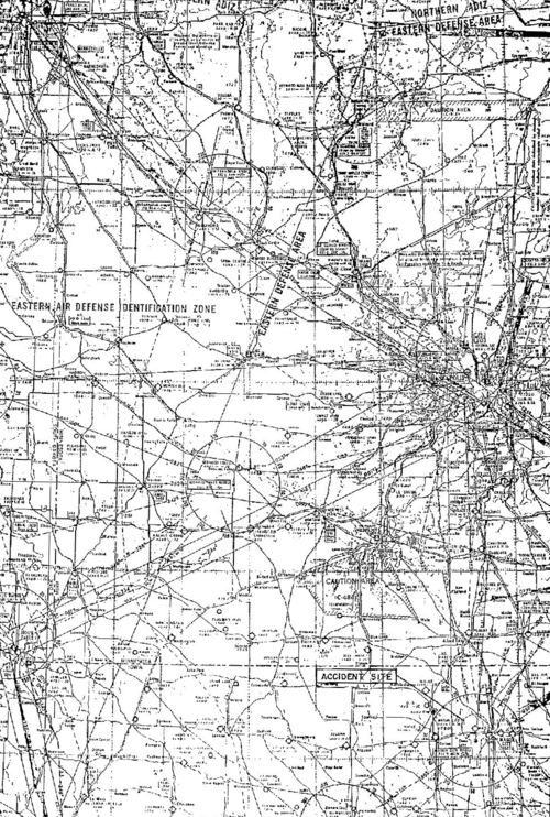 Map from File-CAB 2-3-1959 concerning Buddy Hollys Crash.png