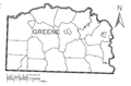 Map of Clarksville, Greene County, Pennsylvania Highlighted.png