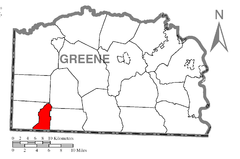 Map of Freeport Township, Greene County, Pennsylvania Highlighted.png