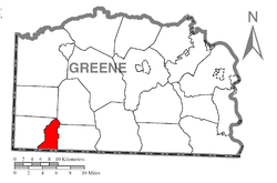 Location of Freeport Township in Greene County
