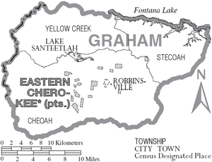 Graham County, North Carolina - Map of Graham County, North Carolina With municipal and township labels