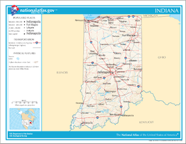 Map of Indiana NA