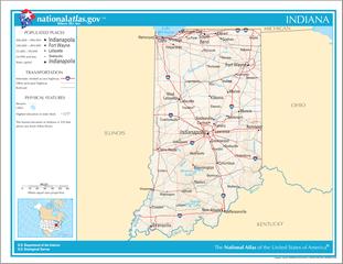 Landkarte von Indiana
