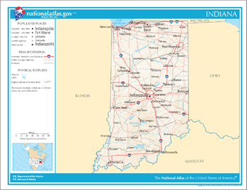 Mapa de Indiana.