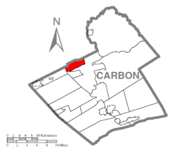Location of Lausanne Township in Carbon County