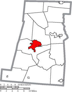Location of London in Madison County