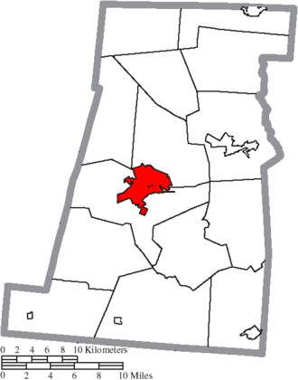London, Ohio - Image: Map of Madison County Ohio Highlighting London City