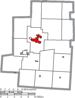 Location of Mount Gilead in Morrow County