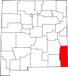 State map highlighting Lea County