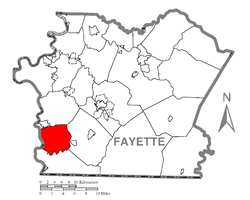 Location of Nicholson Township in Fayette County