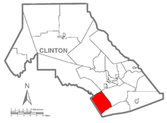 Map of Porter Township, Clinton County, Pennsylvania Highlighted.png