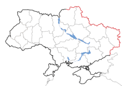 Map of Ukraine border with Russia.png