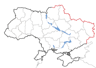 Russia–Ukraine border Separates territories of Ukraine and Russia