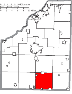 Location of Bloom Township in Wood County