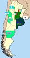 Mapa primera B 2008-9 por provincia.png