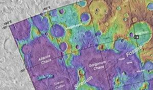 Magelhaens (Martian crater) - Image: Mapmariner