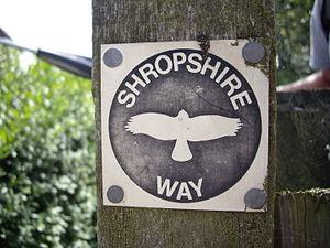 Shropshire Way - The old distinctive waymark of the Shropshire Way