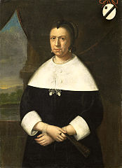 Portrait of a woman known as Maria Quevellerius (1629-64), 1st wife of Anthony van Riebeeck