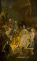Maria Theresa with her sons - Valtice Chateau.png