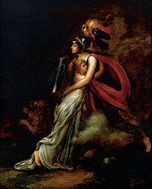 Gallia protects Bavaria, 1809 painting by Marianne Kürzinger
