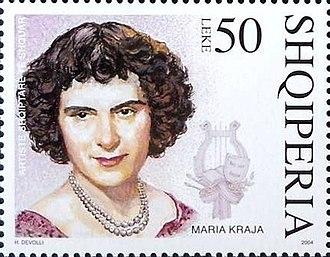 Marie Kraja - Kraja on a 2004 stamp of Albania