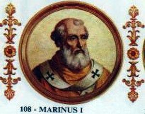 Pope Marinus I - Image: Marinus I