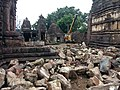 Markanda temples restoration work.jpg