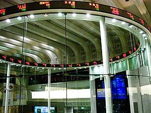 Tokyo Stock Exchange's so-called Market Center...
