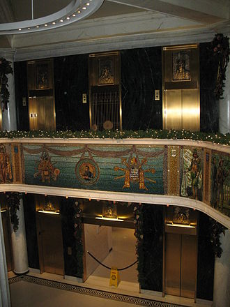 Marquette Building (Chicago) - Image: Marquette Building lobby detail 1 Chicago Illinois