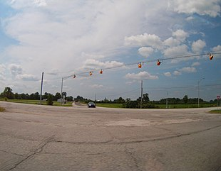 Intersection of U.S. 31 and State Highway 10, in Green Township