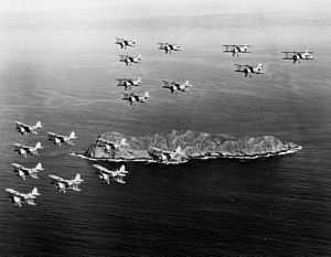 Martin BM - 18 BM-1s and BM-2s from VT-1S off San Diego.