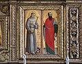 Matera, san francesco, interno, organo settecentesco con cantoria che ingloba pannelli di lazzaro bastiani, 03.jpg