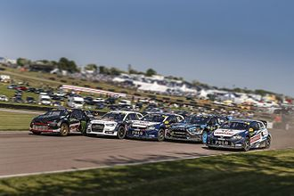 Lydden Hill Race Circuit - Action from the 2016 World RX of Great Britain