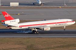 McDonnell Douglas DETA Air UP-DC102 HKG December 2010