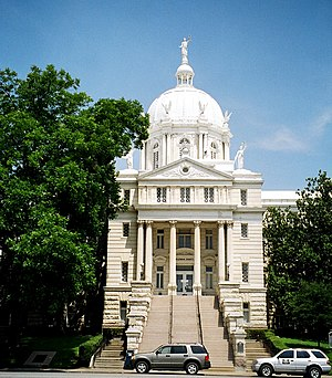 The McLennan County, Texas Courthouse located ...
