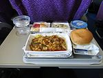 Meal served in Malaysia Airlines economy class, July 2014.jpg