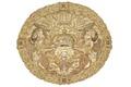 Medaljong som satt på undersidan av Kristinas kröningshimmels tak, från 1650 - Livrustkammaren - 93993.tif