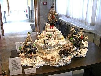 Ceramics museum - Porcelain miners at the Meissen Porcelain Museum