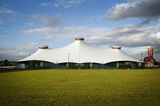 Melbourne Showgrounds - The grand pavilion is the heart of Melbourne Showgrounds