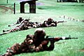 Members of a fire team from the 2nd Light Armored Infantry Battalion, attached to Marine Forces Panama, engage their targets during a live-fire exercise at Empire Range - DPLA - d5bd7d5fe260c45c988c8c19cb3e4b87.jpeg