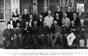 Edward Swayne - Members of the opposition party Queensland Parliament 1909 – Swayne is on the left, middle row.