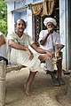 Men smoking hookah, near Jaipur, Rajasthan.jpg