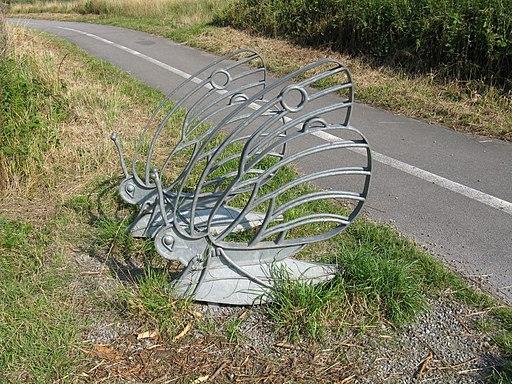 Metal butterfly sculpture-Maze Park-1000