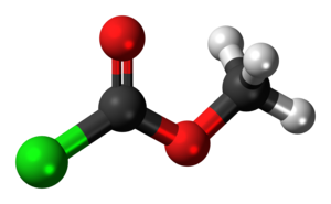 Methyl chloroformate - Image: Methyl chloroformate 3D ball
