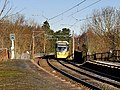 Metrolink Tram Approaching Radcliffe (geograph 5648256).jpg