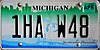 Michigan 2012 License Plate- 1HA W48.jpg