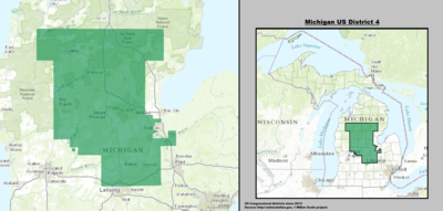 Michigan's 4th congressional district - since January 3, 2013.